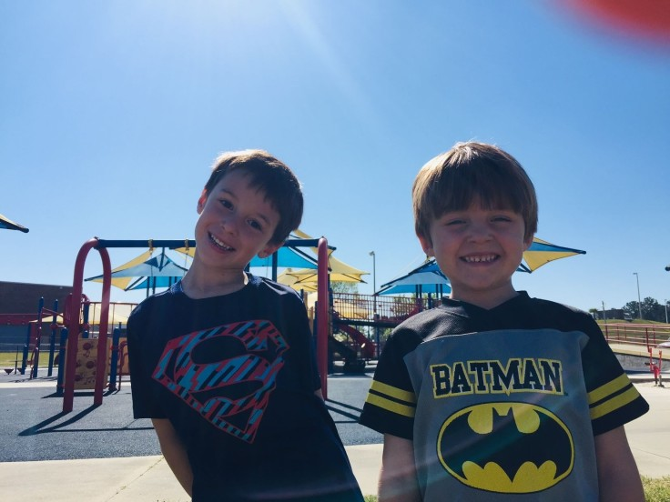 Park with my superheroes